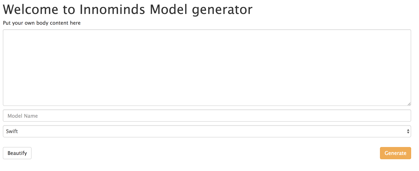 Innominds model generator