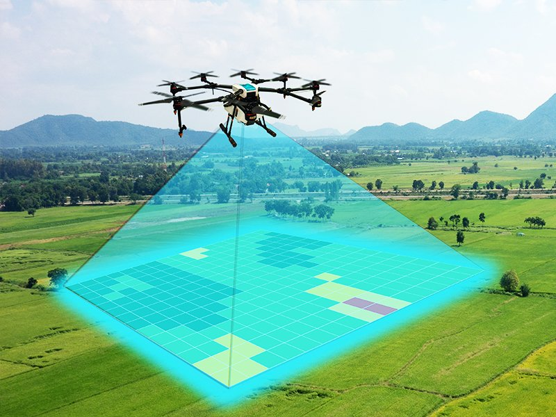 Drones in Precision Agriculture and AI-powered application