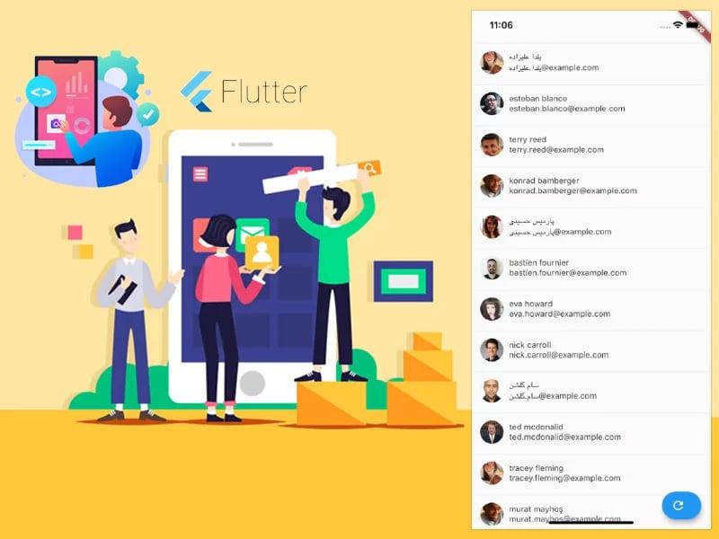 Single screen application using Flutter