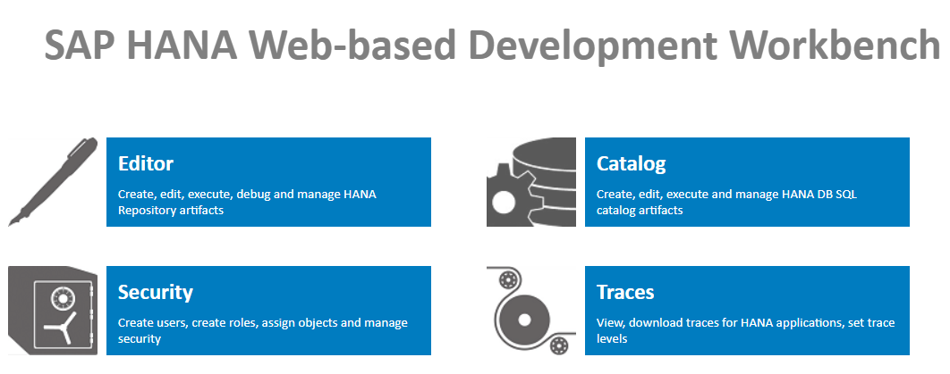 SAP HANA Web-Based Development Workbench