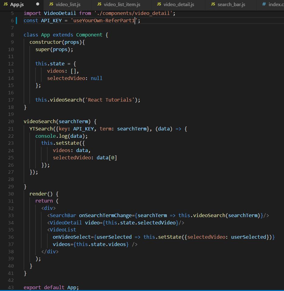 App.js file image