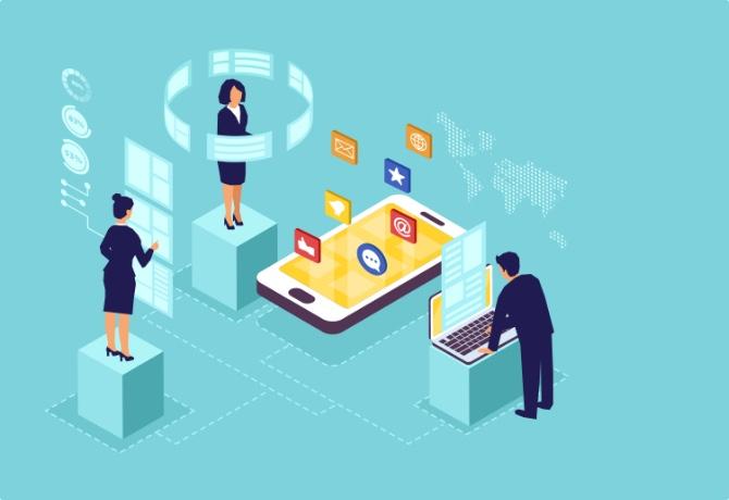 IT service management app on a low-code platform